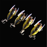 Wholesale 10pcs Fishing Lure Hooks cm g cicadas D Minnow Lures Hard Bait Fishing Hook Artificial Pesca Fishing Tackle KL Online