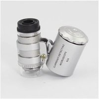 Wholesale Mini x Jewelers Loupe Magnifier Magnifying With Low Price High Quality Lens Glass Zoom Tool LED Light Magnifier