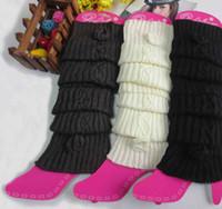 Wholesale Newest Women Knitted Boot Cuffs Leg Warmers Foot socks boot cuff hemp roses knit leg warmers WT21