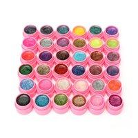 Wholesale Hot Selling Glitter Gel Hexagon Sheet Nail Art UV Builder False Tips Set Mix Colors Women Manicure Tools Sets New
