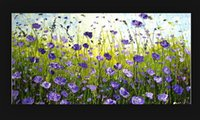 best free backgrounds - hand painted art oil painting abstract purple flowers palette knife home decor best background no framed