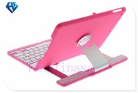 Cheap Aluminum 360 Swivel Rotating Stand Case Cover Bluetooth Keyboard For iPad Air for iPad Air 2