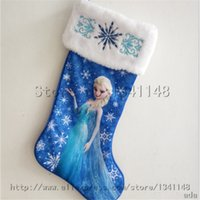 Wholesale 12pcs Christmas Sockings anna elsa sea maid car cute Christmas tree decoration products hanging xmas candy gifts socks