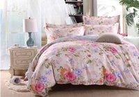 baby conforter - Factory Outlet Cotton Summer Style Desingler Bedding Set Baby Blue Pink Flower Full Queen Size Quilt Conforter Cover Set sabanas
