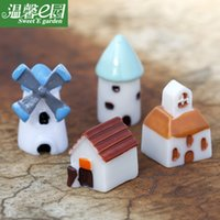 Wholesale 2015 Windmill House Church resin doll creative arts and crafts children s house Castle toys NO