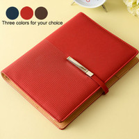 spiral notebook - 2015 HOT sale leather diary note book paper metal ring binder spiral notebook A5 agenda planner organizer for business gift