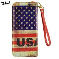 big bags usa - 2015 British Style UK USA National Flag PU Zipper Wallets for Women Big Ben London Carnival Printing Purse LBQ249