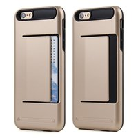 Cheap Verus Armor Slide Credit Card Case For iPhone 5 5S   6 6S   6 Plus 6S Plus Slot Wallet ID Layer Shock Proof Hard Cover Shell