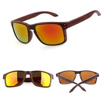 Wholesale Imitation Wood Grain Sunglasses Brand Designer Colorful Film Goggles UV400 Protectioin Casual Eyewear Women Mens Sun Glass DHL