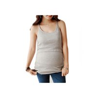 basic stroller - Rib Knit maternity tank top Women Summer strappy Vest Tank Tops Camisole Pregnant T shirt Tunic Basic breastfeeding nursing tops
