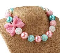 al por mayor los niños collares-Fornido del collar rosado de las niñas collar de goma de mascar de San Valentín collar fornido de la joyería de las muchachas del niño de San Valentín collar collar de niños gruesos