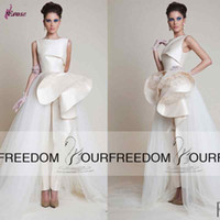 women ruffle pants - 2016 New Arrival Evening Gowns Azzi Osta Speical Design Sleeveless Ivory Special Occasion Dresses Formal Evening Dress Women Pants