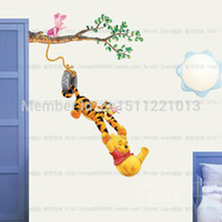 winnie the pooh - TC1067 New Winnie the Pooh and Tigger Leaves Wall Sticker Wall Mural Home Decor Room Kids CM CM