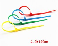 Wholesale Colored cable ties binding wire with multicolored nylon cable ties cable tie mm strip pack of