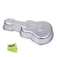 aluminum alloy molds - Aluminum Alloy Guitar Shape Musical Instruments Cake Baking Pan Cake Decorating Tool Fondant Cake Molds