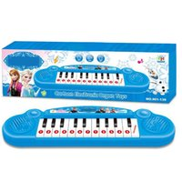 Wholesale Frozen Anna Elsa Musical toy Baby Kids Musical Toy Instruments Anna Elsa Electronic Keyboard Organ For Learning Education