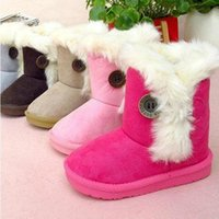 Wholesale 2016 winter baby boots for boys girls toddler s snow boots little kids ankle boots unisex cotton padded warm shoes size19