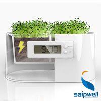 batteries pollution - Biological electricity powered No Batteries desktop digital modern design decorative clock green solution no pollution for home