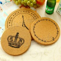 cork coasters - Hot Round Cup Bowl Insulation Mat Table Non Slip Tableware Vintage Round Cork Coasters Pad Cushion Home Hotel Placemat