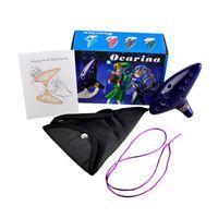 Wholesale Musical Instruments Ocarina Legend of Zelda Ceramic Holes Kiln fired Flute Ocarina Fine Gift