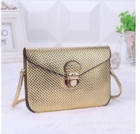 autumn wholesale tote bags - 2015 New Women Shoulder Bags Small PU leather metallic handbag autumn Lady Crossbody Bags High Quality Wallets Women Tote messenger bag BH58