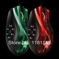 Wholesale x5pcsOptical Mouse gaming mouse buttons Razer Naga hexagram breathing lights d mouse custom programming key MOBA game mouse M006