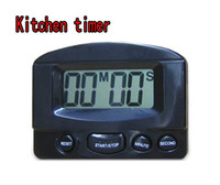 Wholesale xl Timer Kitchen Cooking Minute Digital LCD Alarm Clock Medication Sport Countdown Calculator timers with Clip Pad