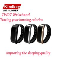 Wholesale 2015 new IP67 waterproof OLED screen Smart Wristband Watches TW07 Bluetooth Smartband Sport Bracelet Self Selfie Controller watch