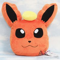 Wholesale 30PCS New Arrival cm Pokemon Fire Eevee Soft Plush Cushion Pillow Toy HL