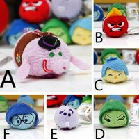 big joy - TSUM TSUM inside out plush Toys cartoon mobile screen cleaner Bing Bong Sadness Anger Joy Fear Disgust plush doll christmas gifts HX