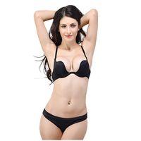 Wholesale B17 fashion Women Bra Deep U Low Cut Sports bra Push Up Backless strapless bras brassiere sutian Sport bandeau