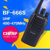 Wholesale BAOFENG BF S Radio Cheapest Watts Channels Handle Walkie Talkie UHF Two Way Radio Transmitter
