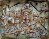 art reproduction posters - poster requisiten stilleben Painting by Paul Klee Art Reproduction High quality Hand painted