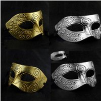ancient greece - Halloween PVC Retro Masks Half Face Ancient Greece Archaistic Roma Antique Classic Men s Mask Masquerade Masks Vintage Costume Party Masks