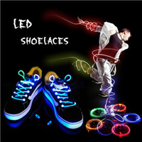 Wholesale 2015 NEW pair Boys Girls Kids Light Up LED Flashing Glow Shoelaces Flash Christmas Party Disco Shoe Laces Shoe Strings Color