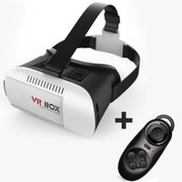 Wholesale 3D VR Glasses Headset BOX Oculus Rift Head Mount Virtual Reality Movies Games for Inch Phone Bluetooth Remote Control
