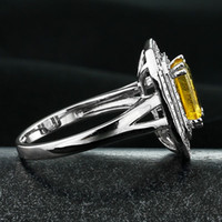 Cheap 2015 Double Roller Medisch Gereedschap Roller Blades Luxury Jewelry 925 Silver Inlaid Brazilian Aaaa Grade Natural Citrine Ring Ri101419