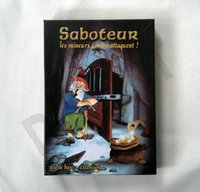 Wholesale ENGLISH version SABOTEUR board game plastic seal table game russian rules classical desktop playing cards