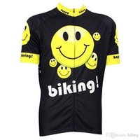 Wholesale 2015 Newest Carton cycling tops short sleeves face smile shirts size XS XL cycling jersey tops