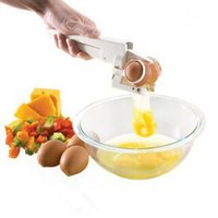 Wholesale New Novelty Kitchen Gadget Tool Egg Cracker Separator Egg Separator Crack Eggs Best Deal
