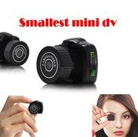 Wholesale Y2000 Mini HD Video Camera Small Mini Pocket DV DVR Camcorder Recorder Spy Hidden Web spy Cameras