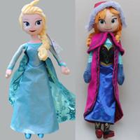 achat en gros de cadeaux pas chers jouets-Livraison gratuite 2pcs poupées figurines poupée 40cm 50cm elsa anna jouet congelé de poupées en peluche congelés cher cadeau de Noël 39202591140