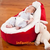 Wholesale Micro soft RED Baby infant Bean Bag Snuggle Bed Portable Seat Without Filling