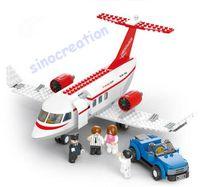 airplane doors - Sluban Aviation DIY Child Airplane Plastic Educational Blocks Toy Set B0365 The Door Can Be Open