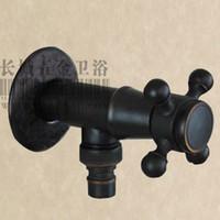 Wholesale Black black antique bronze faucet full copper washing machine faucet single cold washing machine faucet