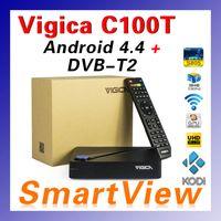 Cheap 1pcs Original VIGICAC100TDVB-T2 Digital Terrestrial Receiver & Amlogic S805 Quad Core 1GB 8GB Android 4.4 TV Box