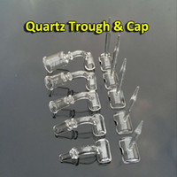 Wholesale New Quartz Trough Quartz Banger Nail With Carb Cap Female Male mm mm mm Joint Degrees Quartz Bangers Nails For Glass Pipes