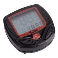 Wholesale Waterproof LCD Display Bike Bicycle Cycling Computer LCD Odometer Speedometer Black and Red