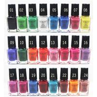 Wholesale 24 Colors Nail Polish Nail Art Decorations Colorful Nail Enamel Nails Varnish Easy Dry Nail Enamel Brand Polish Lacquer Nail Polish