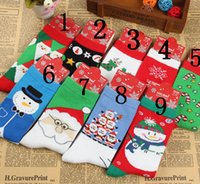 Wholesale Unisex Boy Girl lover Socks Hosiery Thick Warm Stretchy Pure Cotton Sock Christmas Gift Various designs Snow flake Santa claus